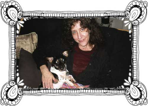 miss jan pessin with the late benny the dog